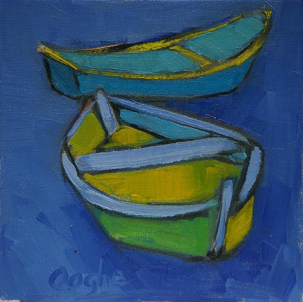 """Small Boats"" original fine art by Angela Ooghe"