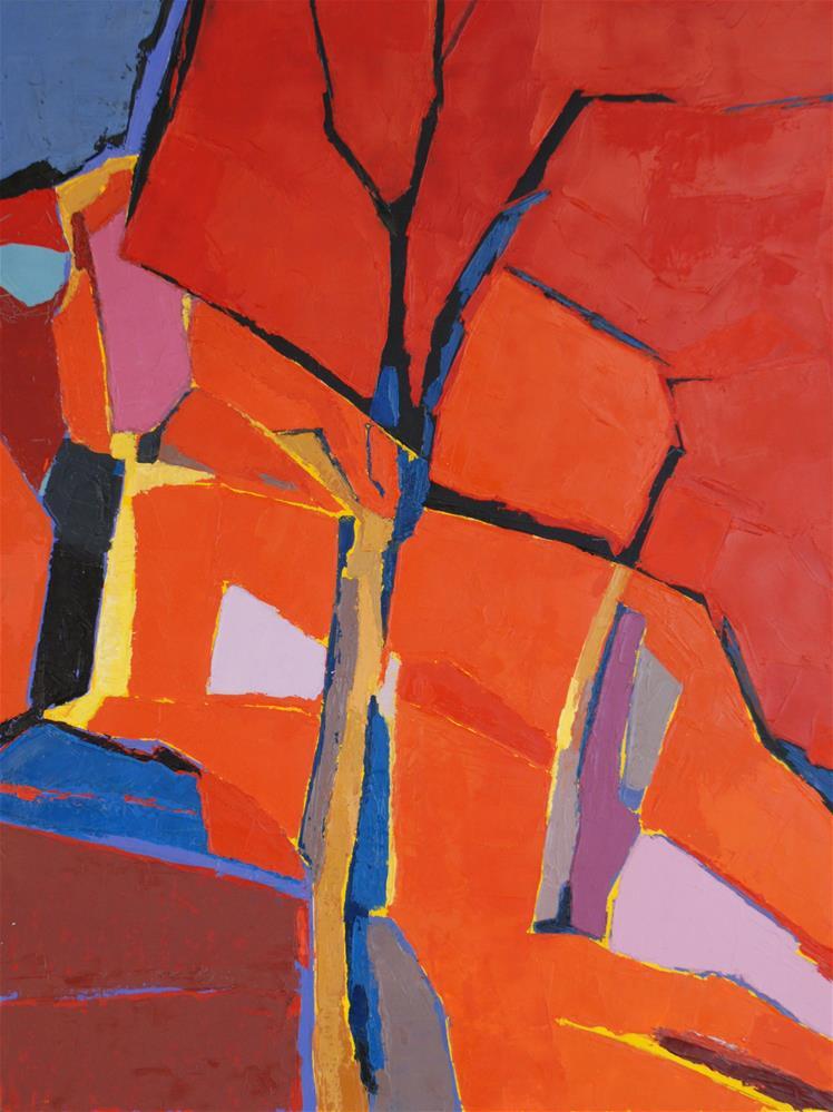 """Autumn impressions"" original fine art by Olga Touboltseva-Lefort"
