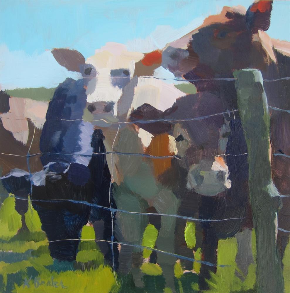 """Cows"" original fine art by Kaethe Bealer"