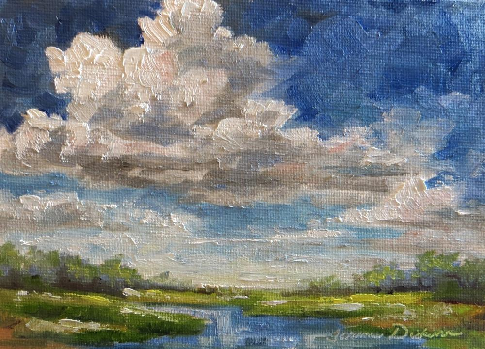 """Lingering Clouds"" original fine art by Tammie Dickerson"