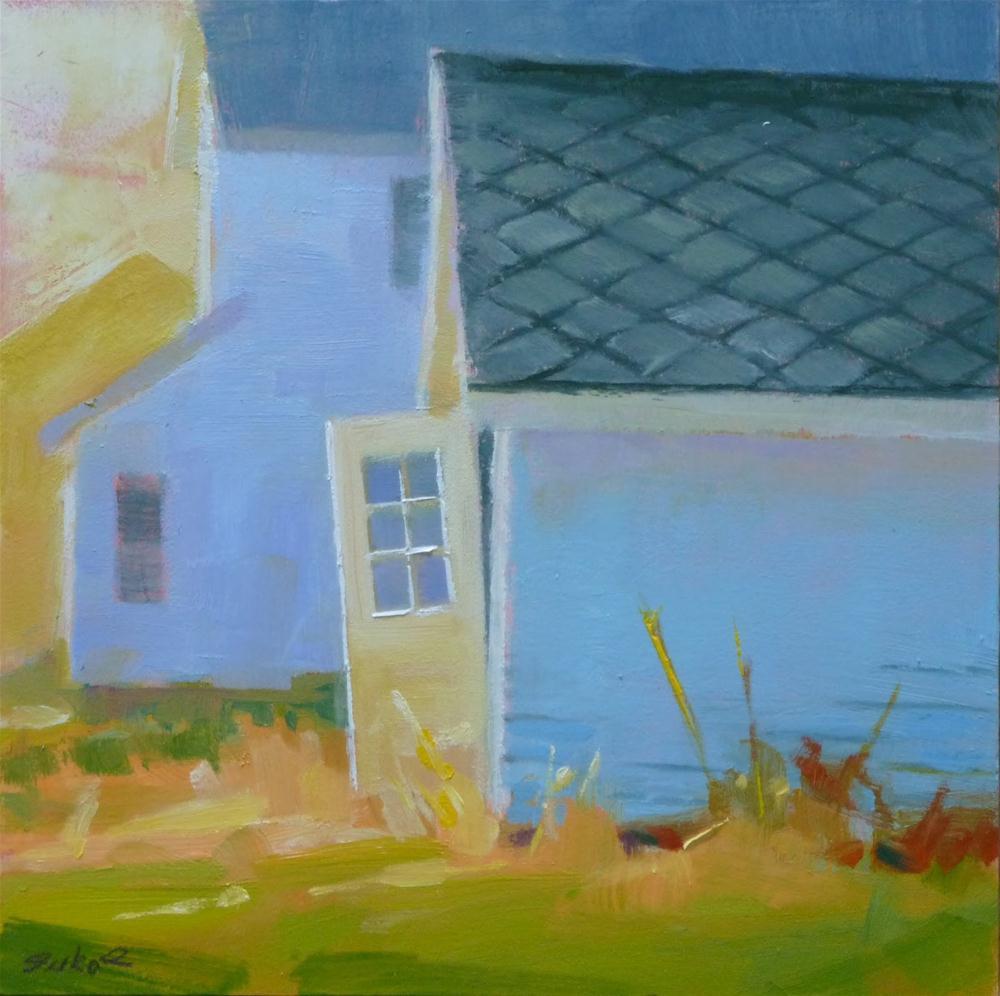 """""""Tool Shed Door"""" original fine art by Ron Ferkol"""