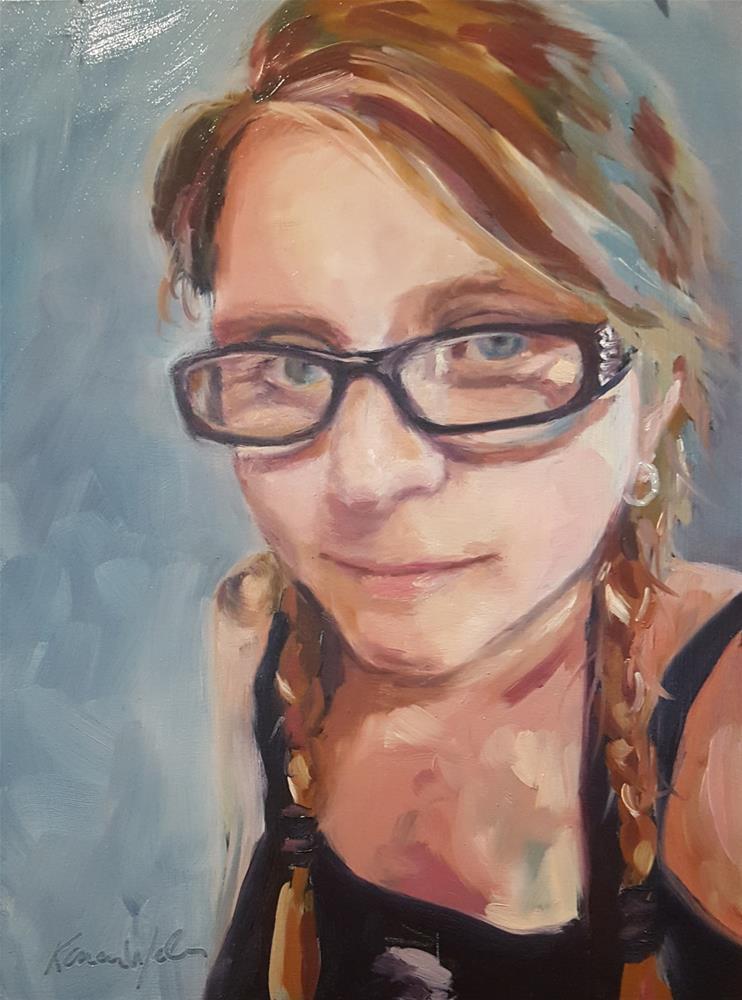 """Selfie"" original fine art by Karen Weber"
