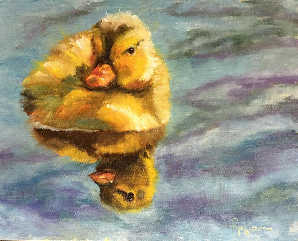 """""""Paddling About"""" original fine art by Renee Robison"""