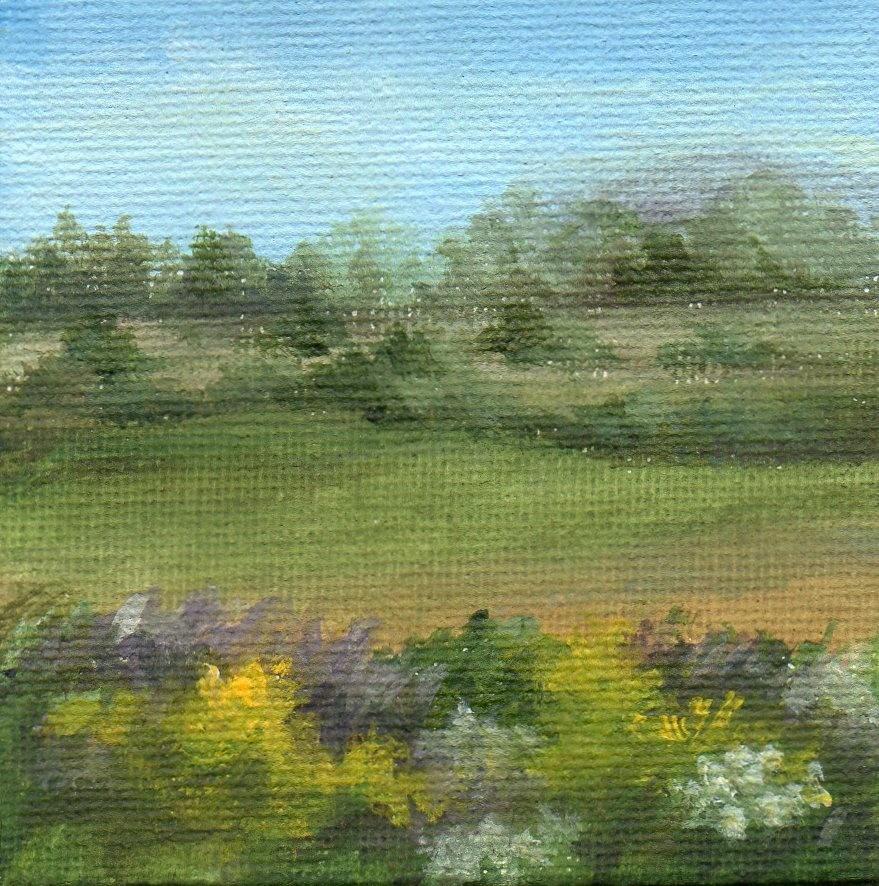 """On the Golden Road"" original fine art by Debbie Shirley"