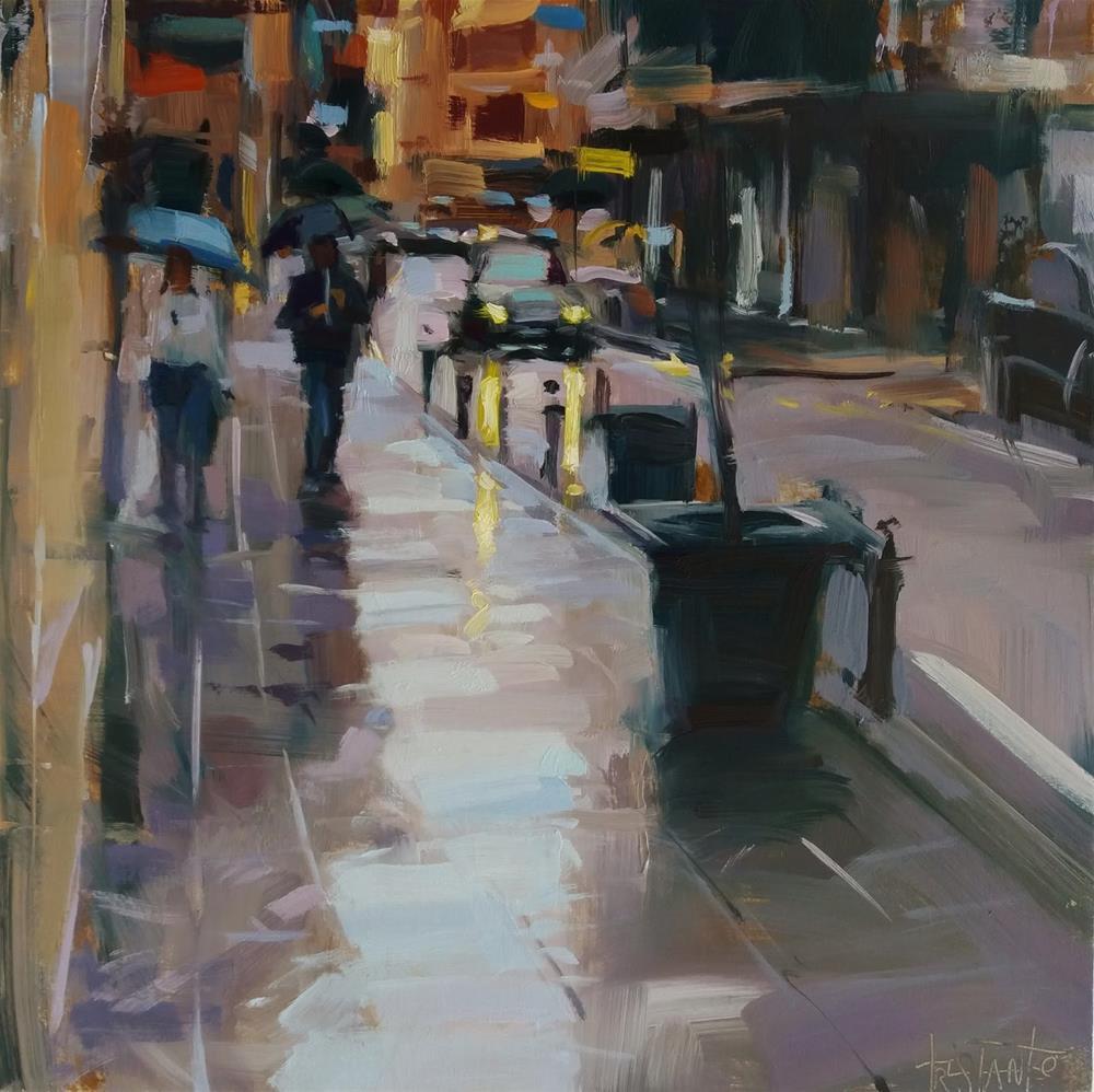 """Granada under the rain"" original fine art by Víctor Tristante"