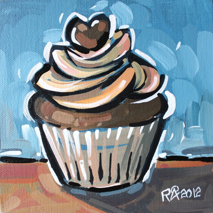 """Cupcake 13"" original fine art by Roger Akesson"