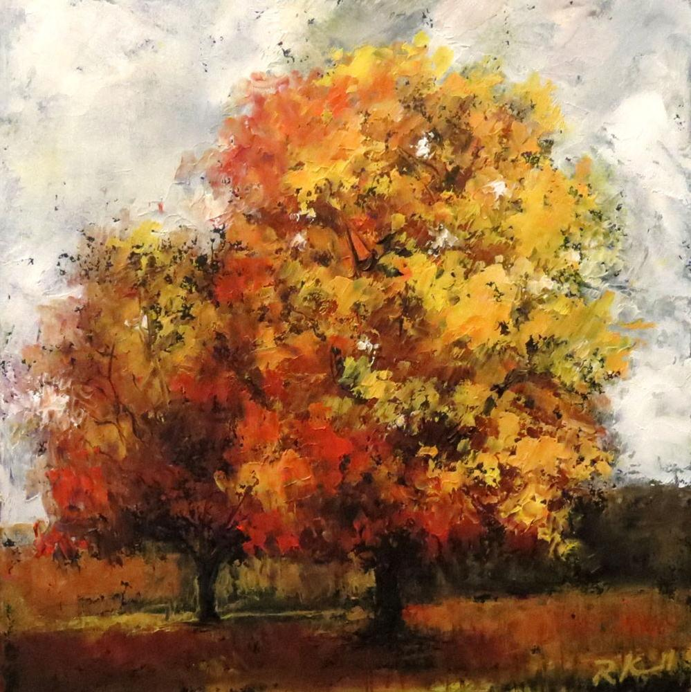 """Yellow Trees"" original fine art by Bob Kimball"