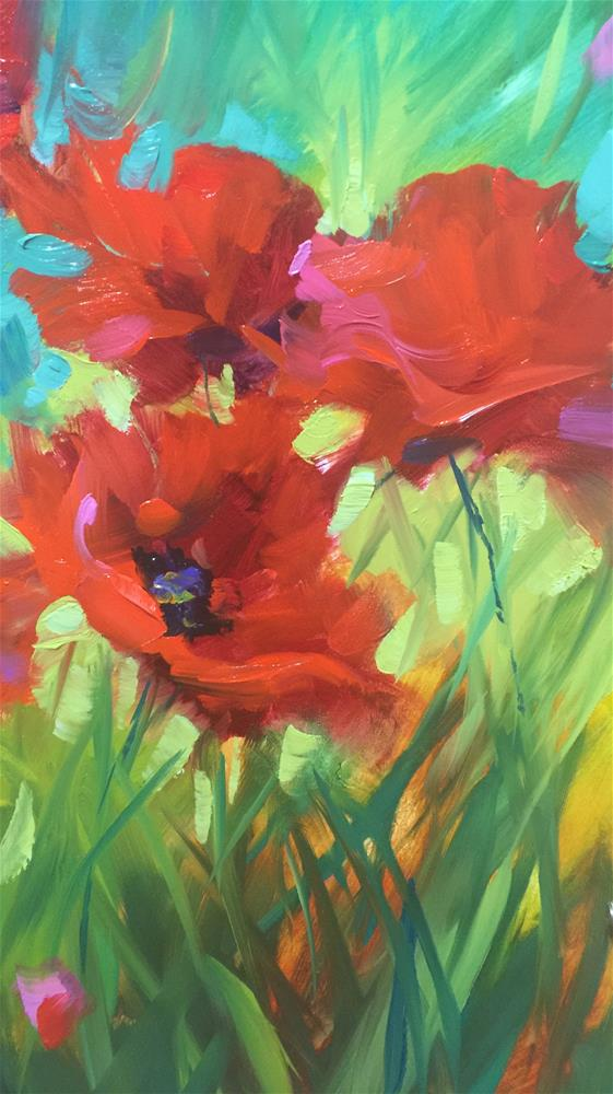 """Run Wild ~ Painting Brilliant Colors Registration Opens July 7"" original fine art by Nancy Medina"