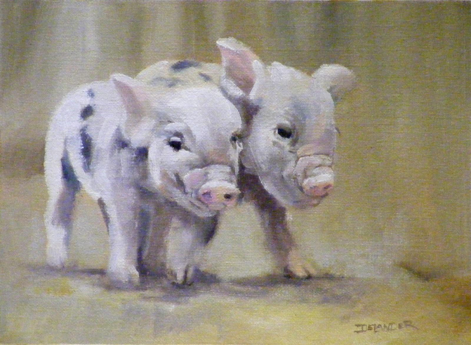 """Little Friends"" original fine art by Diana Delander"