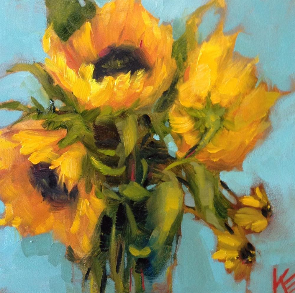 """Bursting Forth"" original fine art by Krista Eaton"