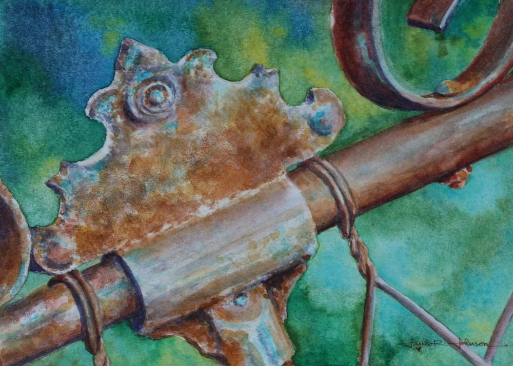 """Rusty Gate"" original fine art by Jana Johnson"