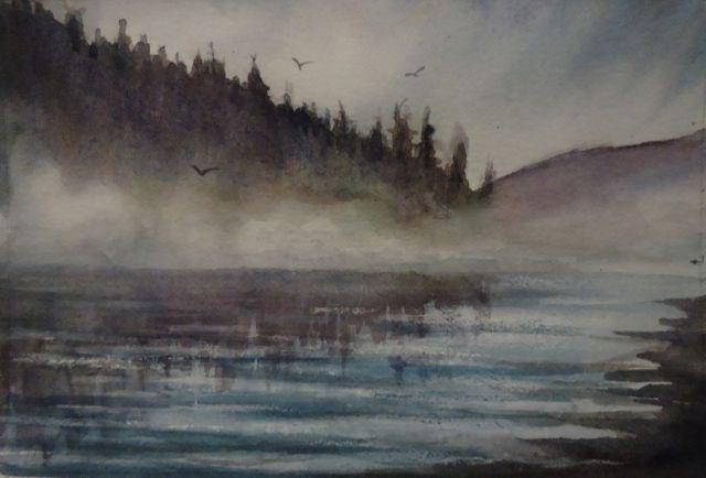 """Mist 1"" original fine art by Jackie Irvine"
