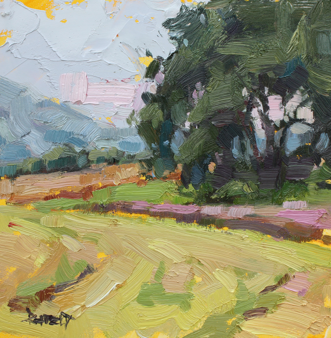 """Blue Bee Farm on Sauvie Island"" original fine art by Cathleen Rehfeld"