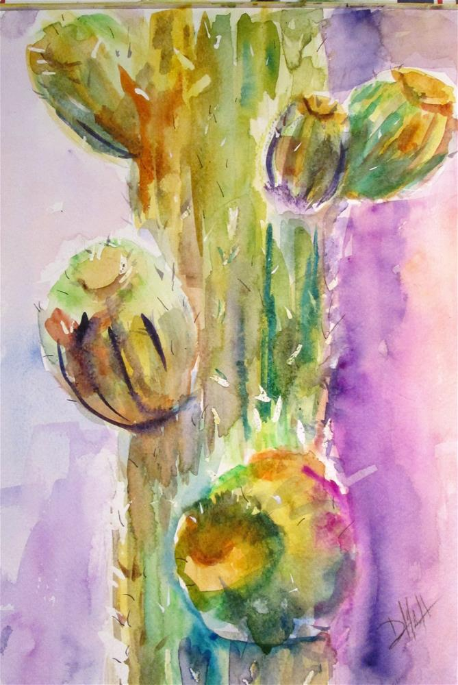 """Cactus"" original fine art by Delilah Smith"