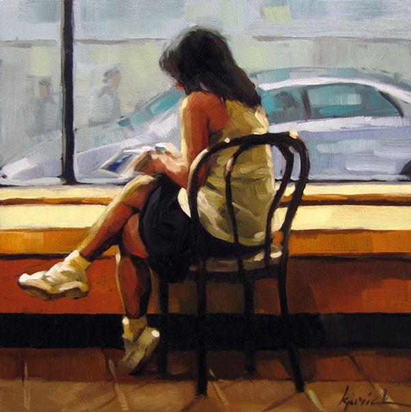 """Starbuckin'"" original fine art by Karin Jurick"