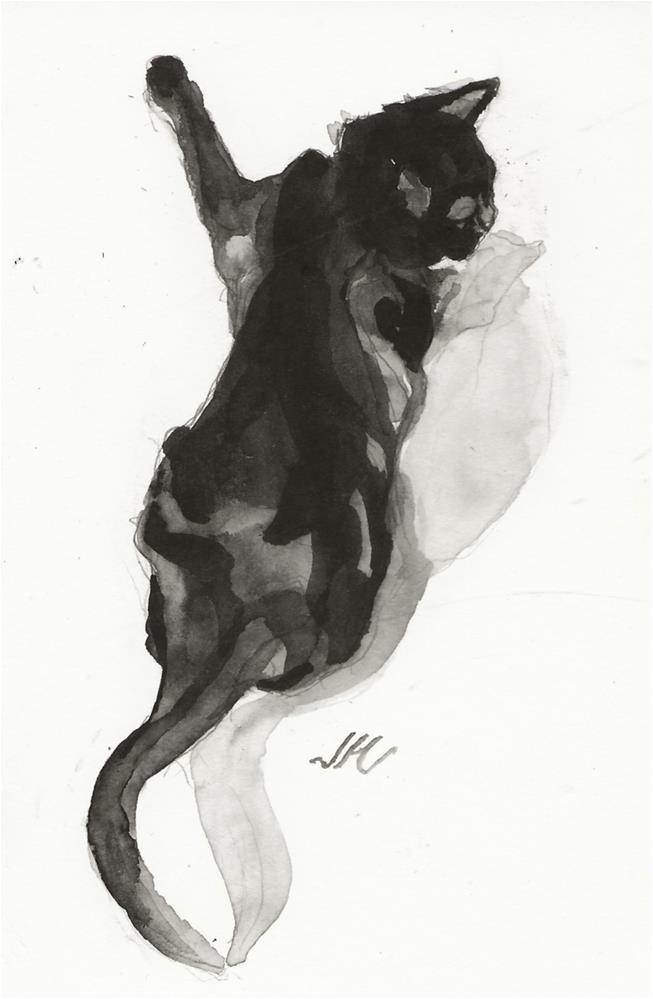 """Daily Cat 139"" original fine art by Jean Krueger"