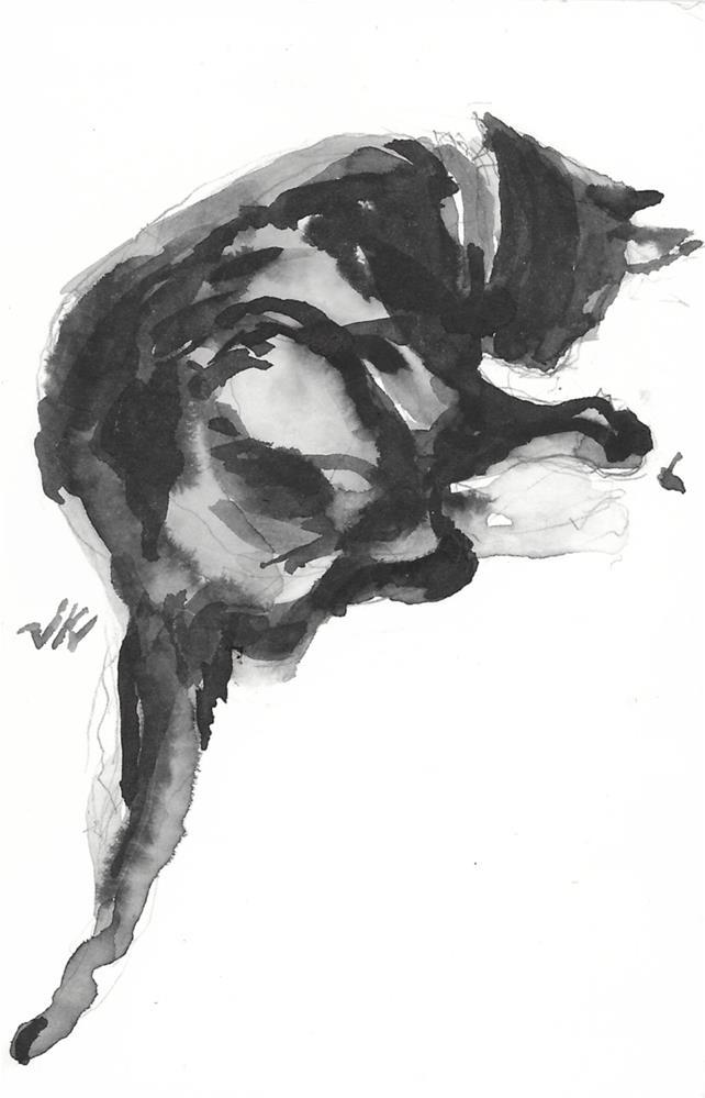 """Daily Cat 202"" original fine art by Jean Krueger"
