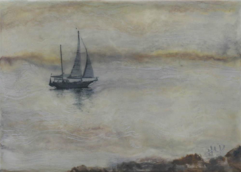 """Sailing in the Mist"" original fine art by Heather Douglas"