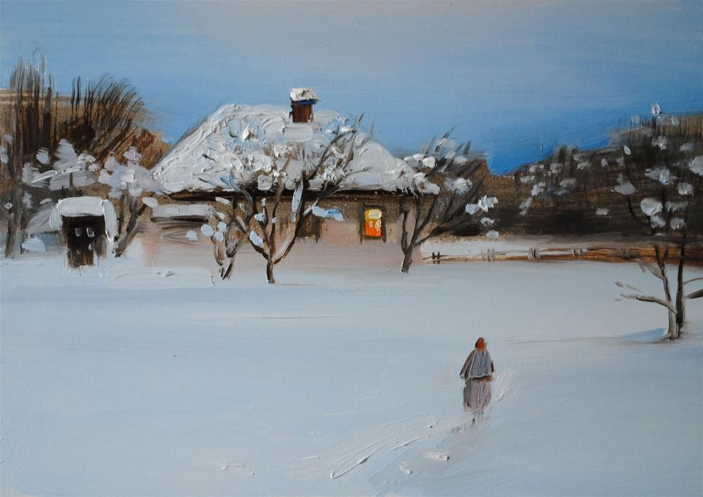 """Towards the Warmth"" original fine art by Elena Katsyura"