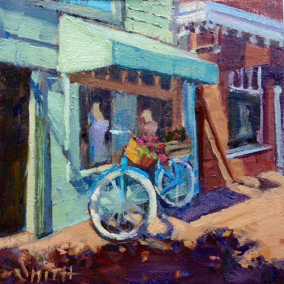 """La Bicyclette"" original fine art by Barbie Smith"