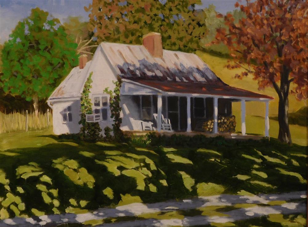 """""""Brown County Farmhouse"""" original fine art by R. L. Einhaus"""
