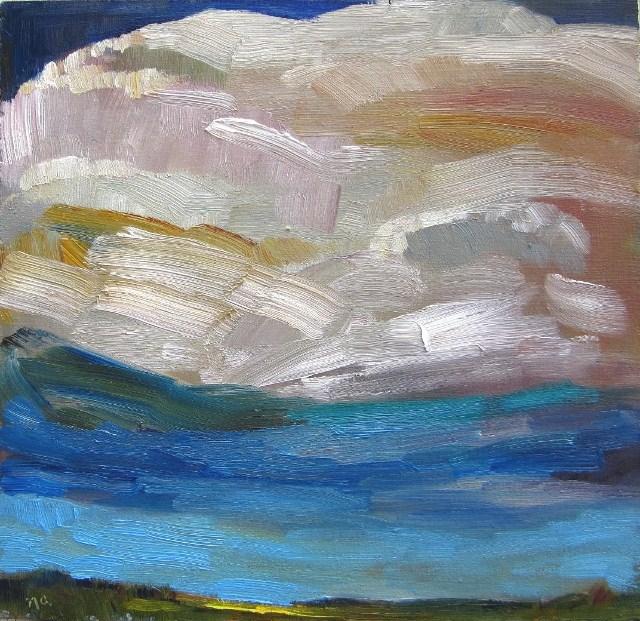 """Quirk 2: An Experimental Sky"" original fine art by Nicki Ault"