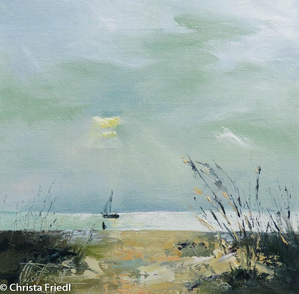 """Overcast Sunset"" original fine art by Christa Friedl"