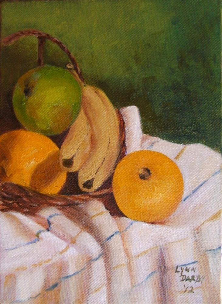 """Fruit Basket"" original fine art by Lynn Darby"