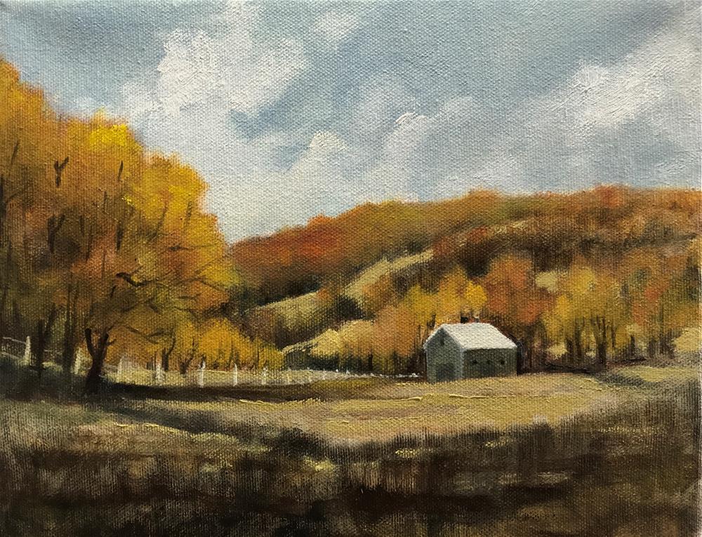 """""""autumn in the fields"""" original fine art by Betty Argiros"""