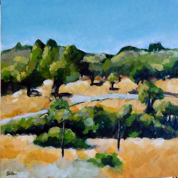 """1073 Fields of Gold"" original fine art by Dietmar Stiller"
