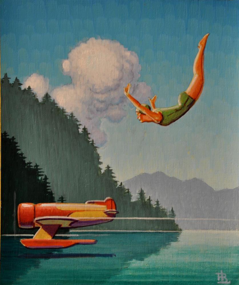 """""""Swimmer"""" original fine art by Robert LaDuke"""