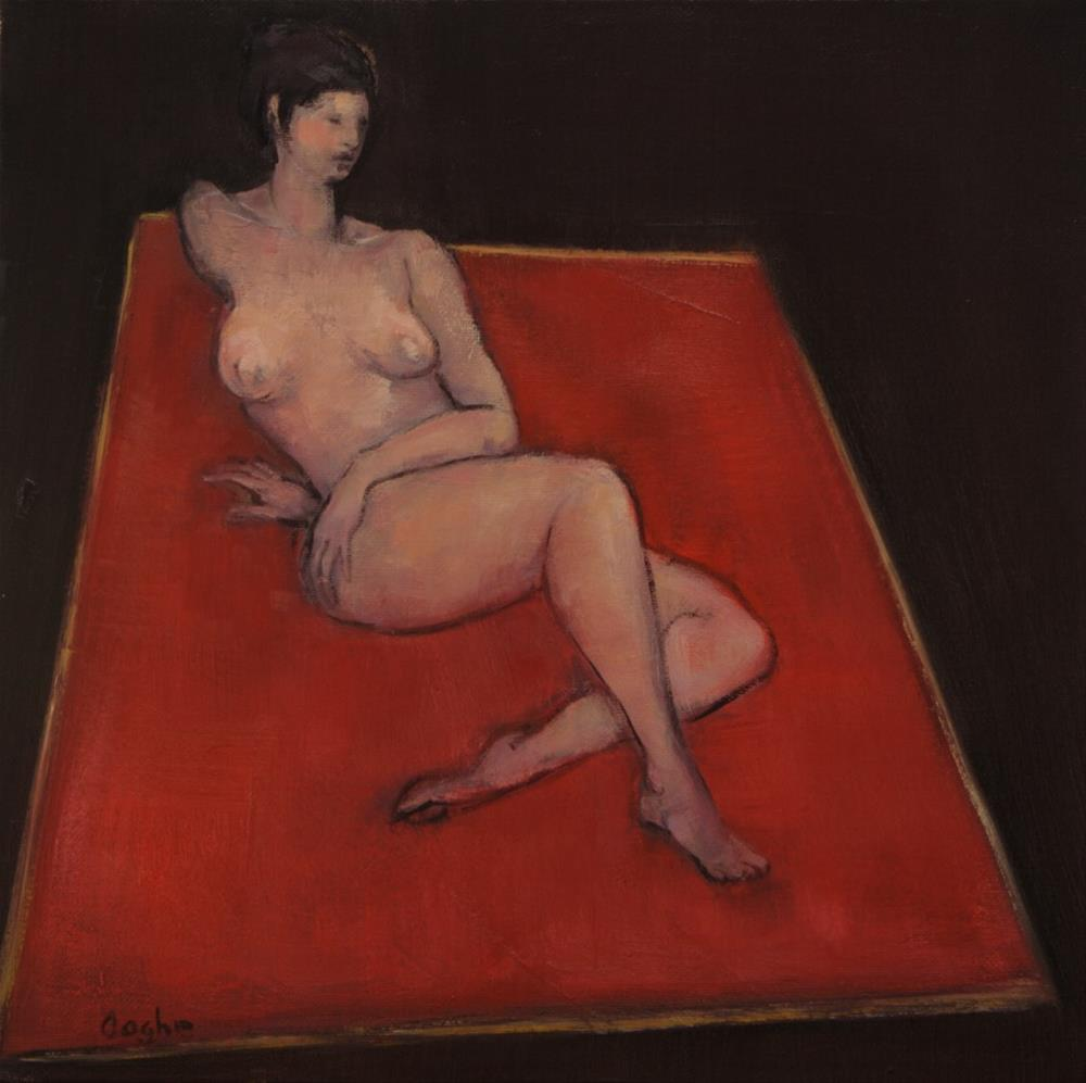"""""""Nude on Red Spread"""" original fine art by Angela Ooghe"""