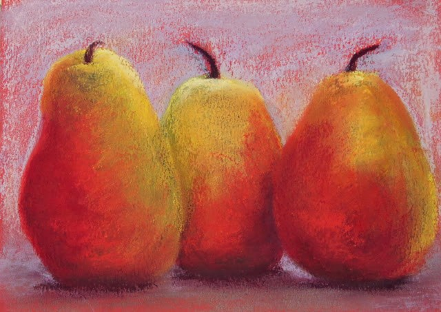 """October Pears"" original fine art by Sharon Lewis"