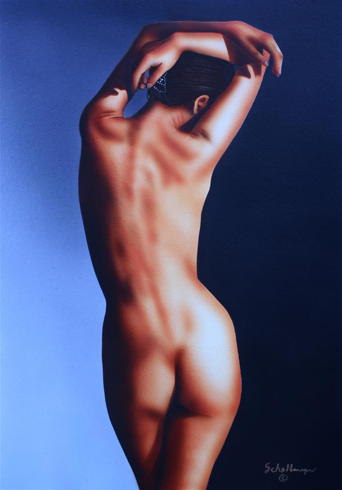 """""""Trish in Shadows"""" original fine art by Fred Schollmeyer"""