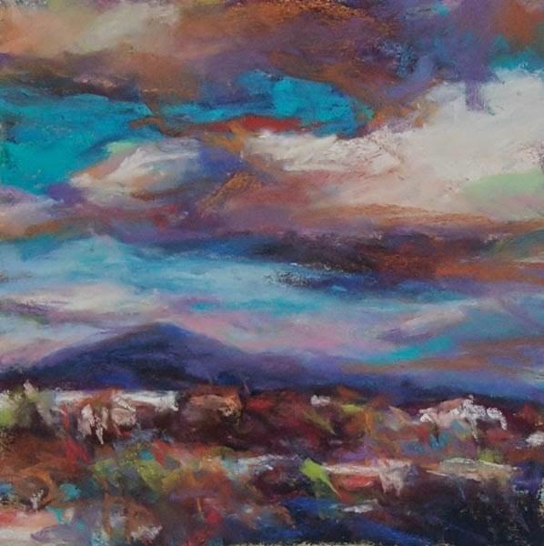 """OVERCAST DAY - 6 x 6 landscape pastel by Susan Roden"" original fine art by Susan Roden"