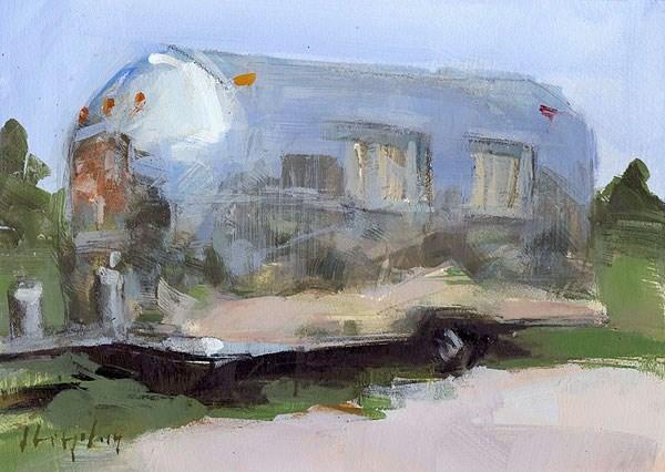 """""""Airstream - Sketch"""" original fine art by David Lloyd"""