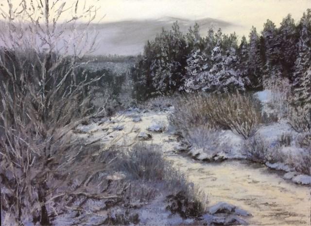 """""""LET IT SNOW!"""" original fine art by Marti Walker"""