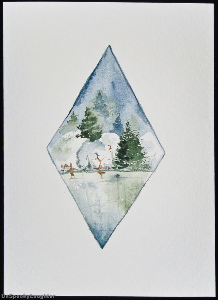 """""""Daily Card #28"""" original fine art by A.E.E. Miller"""