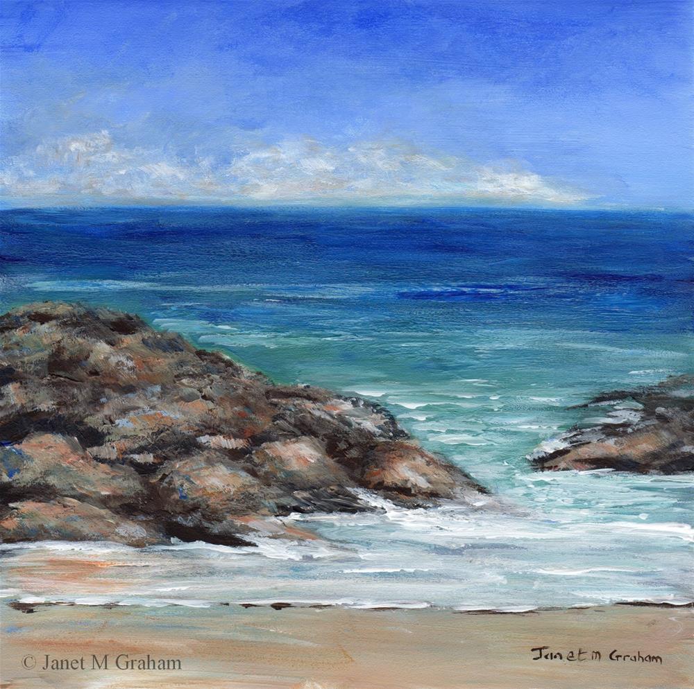 """Rocky Beach"" original fine art by Janet Graham"