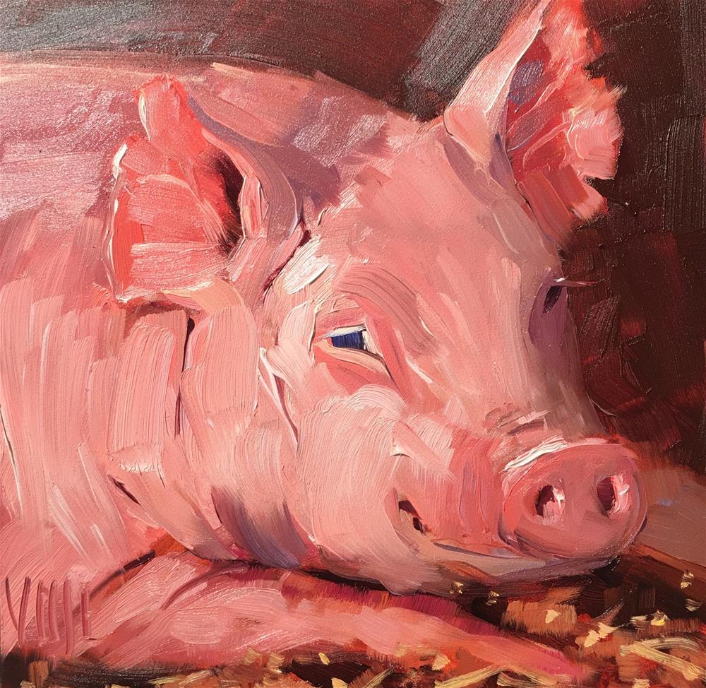 """#263 Humble"" original fine art by Patty Voje"
