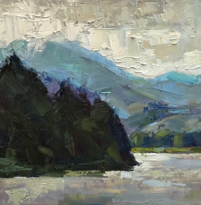 """Early Morning Dorena Lake"" original fine art by Patti McNutt"