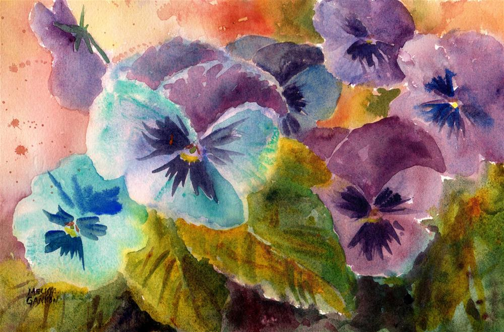 """Mixed Purples & Blues"" original fine art by Melissa Gannon"