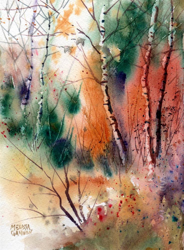 """""""Woods in Watercolor"""" original fine art by Melissa Gannon"""