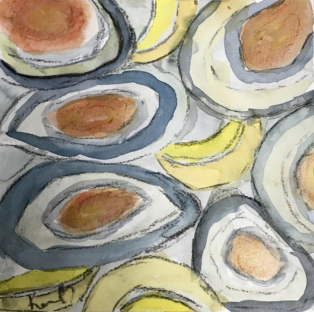 """""""Abstract Oyster"""" original fine art by Kimberly Balentine"""