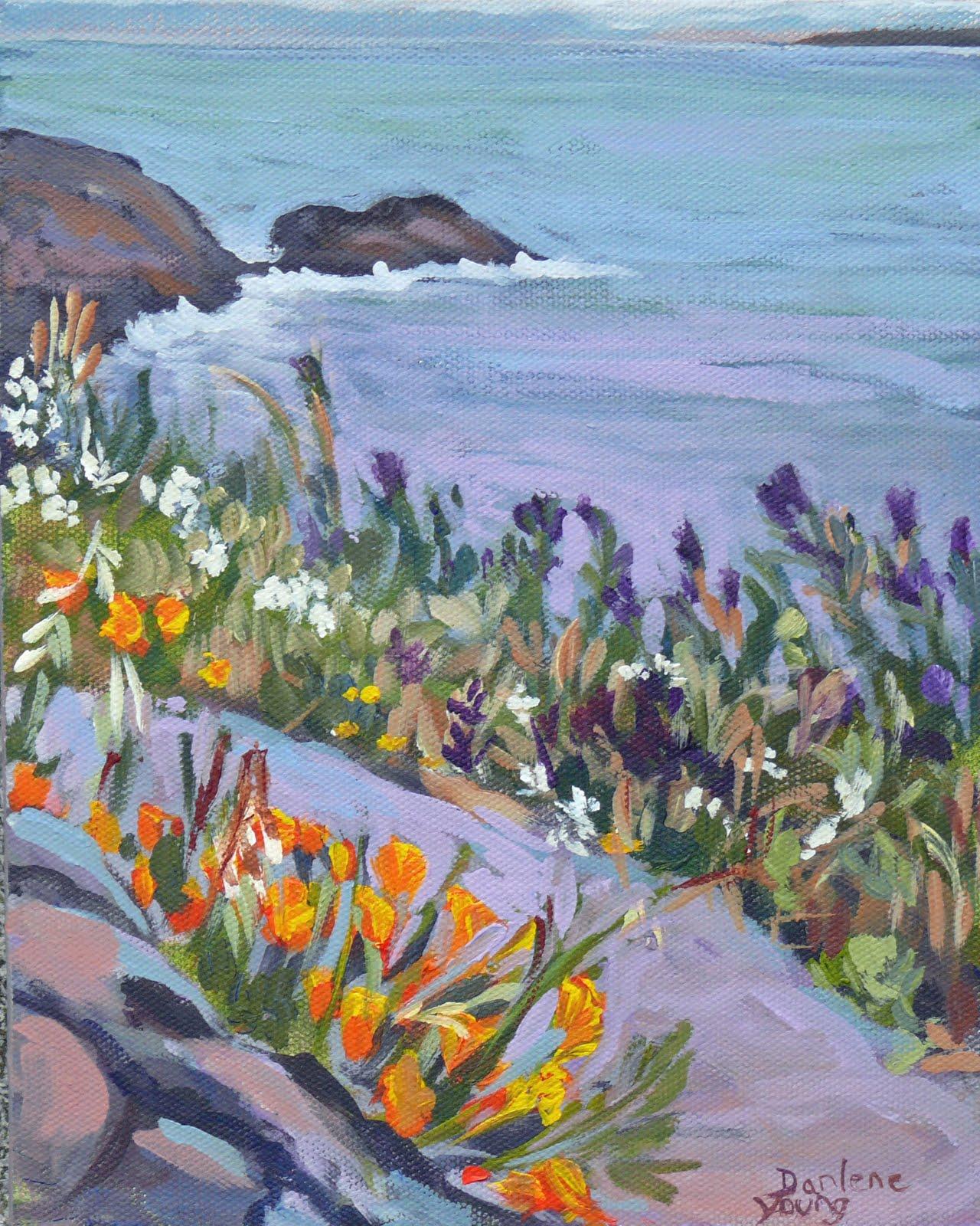 """McNeill Beach, acrylic, 8x10"" original fine art by Darlene Young"
