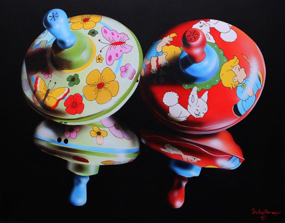 """Springtime & Rabbit Tops"" original fine art by Fred Schollmeyer"