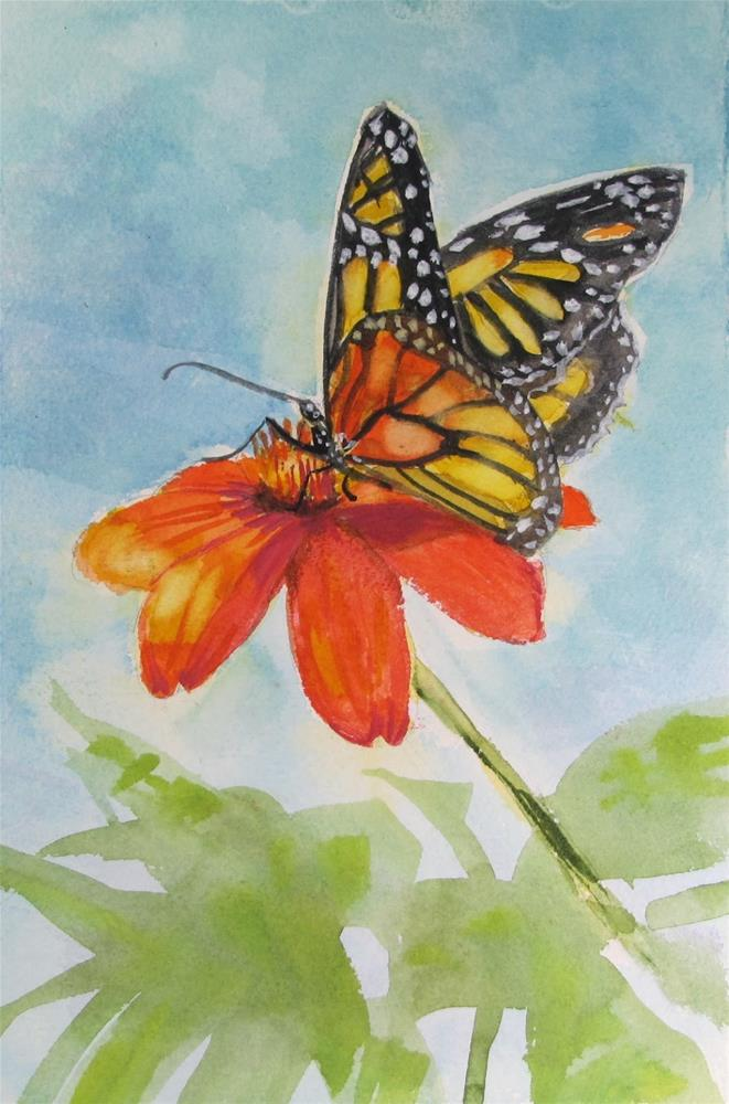 """Monarch#1"" original fine art by Christine Holzschuh"