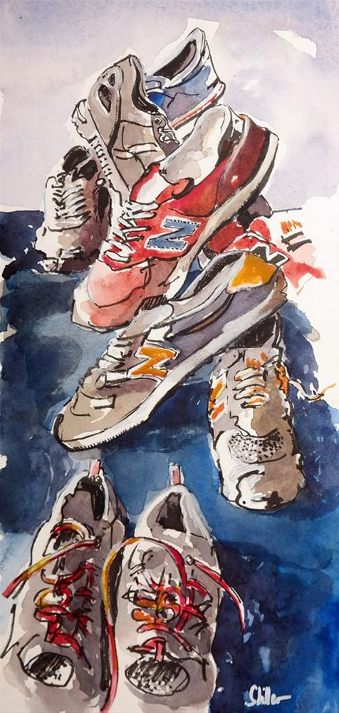 """2327 Shoe Show"" original fine art by Dietmar Stiller"