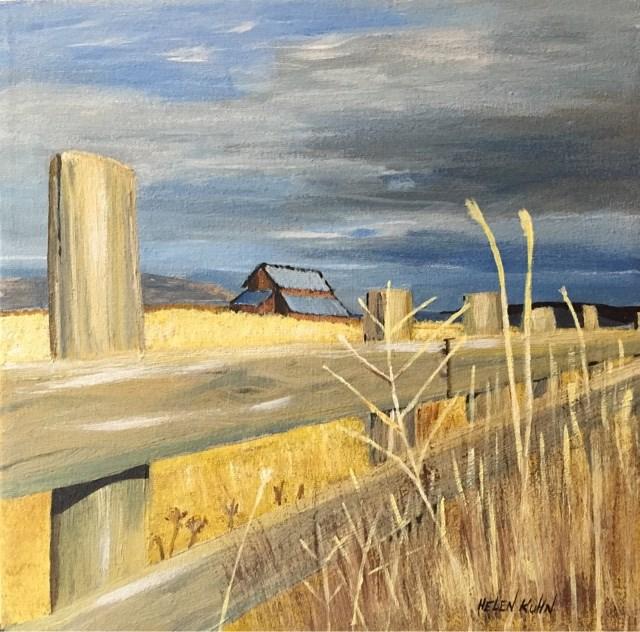 """""""Fenced In"""" original fine art by Helen Kuhn"""
