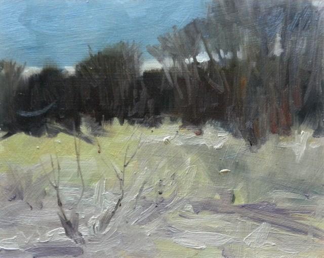 """Clear Creek Park plein air oil painting by Robin Weiss"" original fine art by Robin Weiss"